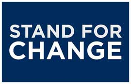 Barack Obama - (Stand for Change) Campaign Poster - 11 x 17