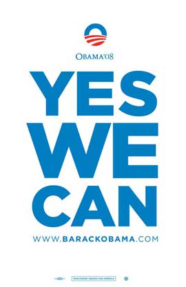 Barack Obama - (Yes We Can) Campaign Poster - 11 x 17