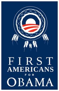 Barack Obama - (First Americans for Obama) Campaign Poster - 24 x 36