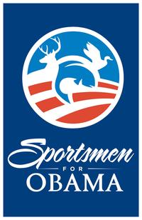 Barack Obama - (Sportsmen for Obama) Campaign Poster - 24 x 36