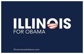 Barack Obama - (Illinois for Obama) Campaign Poster 17 x 11