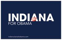 Barack Obama - (Indiana for Obama) Campaign Poster 17 x 11