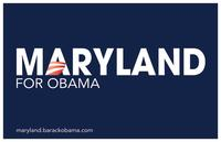 Barack Obama - (Maryland for Obama) Campaign Poster 17 x 11