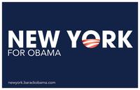Barack Obama - (New York for Obama) Campaign Poster 17 x 11