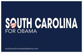 Barack Obama - (South Carolina for Obama) Campaign Poster 17 x 11