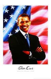 Barack Obama - (Barack Obama 2008) Ocean Clark - Art Poster - 11 x 17