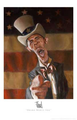 Barack Obama - (Obama Wants You) Jota Leal - Art Poster - 11 x 17