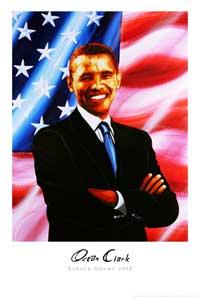 Barack Obama - (Barack Obama 2008) Ocean Clark - Art Poster - 24 x 36