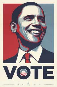 Barack Obama - RARE Campaign Poster - 25 x 39 - VOTE