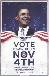 Barack Obama - (Vote for Change...For the Change We Need - Iowa) Campaign Poster - 16 x 24