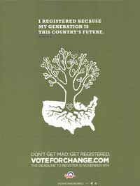 Barack Obama - (Vote for Change...My Generation is this Country's Future) Campaign Poster - 18 x 24