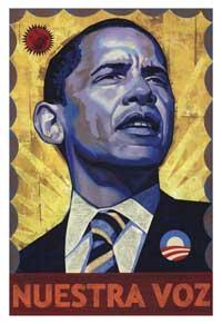 Barack Obama - (Nuestra Voz) Campaign Poster - 16 x 24