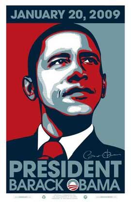 Barack Obama - 11 x 17 - 2009 Inaugural Poster
