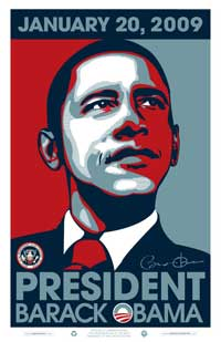 Barack Obama - 24 x 36 - 2009 Commemorative Poster with Presidential Seal
