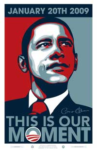 Barack Obama - 24 x 36 - 2009 Inaugural Poster - This is Our Moment