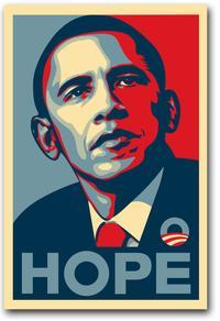 Barack Obama - (Hope) Campaign Poster - 16 x 22