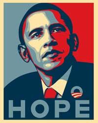 Barack Obama - (Hope) Campaign Poster - 16 x 20