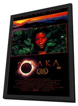 Baraka - 27 x 40 Movie Poster - Style A - in Deluxe Wood Frame