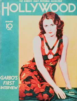 Barbara Stanwyck - 11 x 17 Hollywood Magazine Cover 1940's Style A