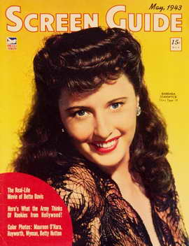Barbara Stanwyck - 11 x 17 Screen Guide Magazine Cover 1940's