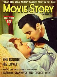 Barbara Stanwyck - 27 x 40 Movie Poster - Movie Story Magazine Cover 1940's