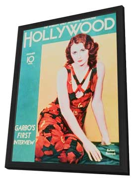 Barbara Stanwyck - 11 x 17 Hollywood Magazine Cover 1940's Style A - in Deluxe Wood Frame
