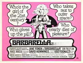 Barbarella - 11 x 17 Movie Poster - Style H
