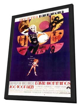 Barbarella - 11 x 17 Movie Poster - Style B - in Deluxe Wood Frame