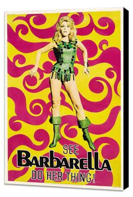 Barbarella - 27 x 40 Movie Poster - Style E - Museum Wrapped Canvas