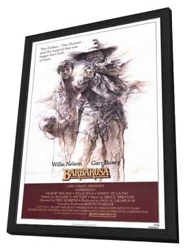 Barbarosa - 11 x 17 Movie Poster - Style A - in Deluxe Wood Frame