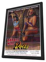 Barbed Wire Dolls - 11 x 17 Movie Poster - Style A - in Deluxe Wood Frame