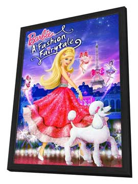 Barbie: A Fashion Fairytale - 27 x 40 Movie Poster - Style A - in Deluxe Wood Frame