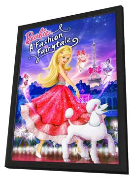 Barbie: A Fashion Fairytale - 11 x 17 Movie Poster - Style A - in Deluxe Wood Frame