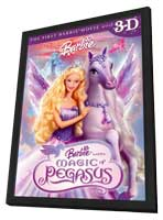 Barbie and the Magic of Pegasus 3-D - 11 x 17 Movie Poster - Style A - in Deluxe Wood Frame