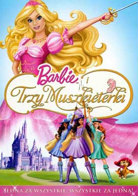 Barbie and the Three Muskateers - 11 x 17 Movie Poster - Polish Style A