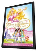 Barbie and the Three Musketeers - 11 x 17 Movie Poster - Style A - in Deluxe Wood Frame
