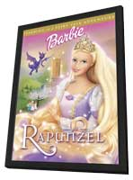Barbie as Rapunzel - 11 x 17 Movie Poster - Style A - in Deluxe Wood Frame
