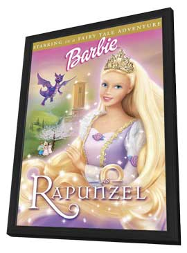 Barbie as Rapunzel - 27 x 40 Movie Poster - Style A - in Deluxe Wood Frame