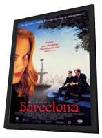 Barcelona - 11 x 17 Movie Poster - Style A - in Deluxe Wood Frame