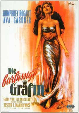 The Barefoot Contessa - 11 x 17 Movie Poster - German Style A