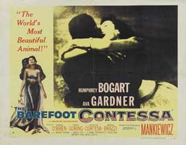 The Barefoot Contessa - 22 x 28 Movie Poster - Half Sheet Style A