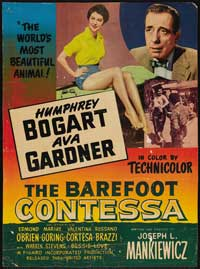 The Barefoot Contessa - 11 x 17 Movie Poster - Belgian Style C