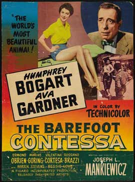 The Barefoot Contessa - 27 x 40 Movie Poster - Belgian Style C