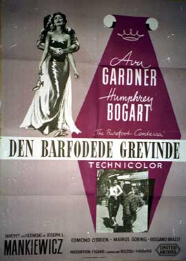 The Barefoot Contessa - 11 x 17 Movie Poster - Danish Style A