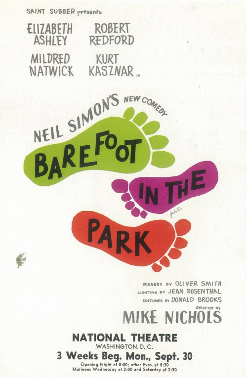 barefoot in the park The classic neil simon comedy barefoot in the park is directed by jessica stone  (ken ludwig's robin hood, arms and the man, and vanya.