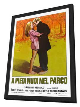 Barefoot in the Park - 27 x 40 Movie Poster - Italian Style A - in Deluxe Wood Frame