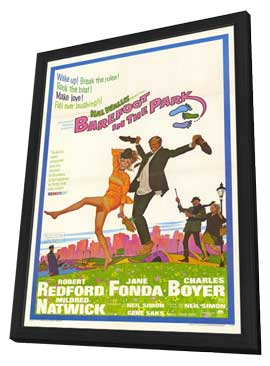 Barefoot in the Park - 11 x 17 Movie Poster - Style A - in Deluxe Wood Frame