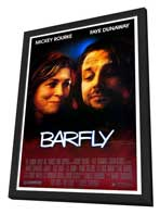 Barfly - 27 x 40 Movie Poster - Style A - in Deluxe Wood Frame