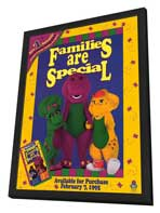 Barney:  Families Are Special - 11 x 17 Movie Poster - Style A - in Deluxe Wood Frame