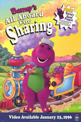 Barney's All Aboard For Sharing - 11 x 17 Movie Poster - Style A